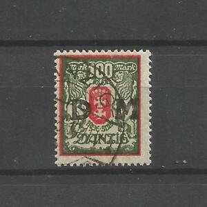 Danzig-Dienstmarken-Mi-Nr-D-34-gestempelt-Infla-BPP-geprueft