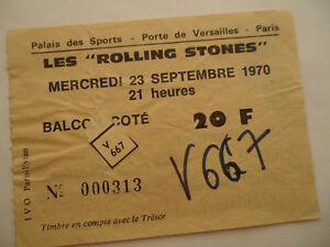 Rolling Stones 1970 Concert Ticket Stub Let It Bleed