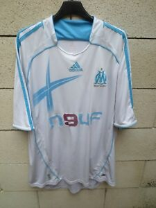 Maillot-OLYMPIQUE-DE-MARSEILLE-2007-ADIDAS-vintage-home-shirt-camiseta-trikot-XL