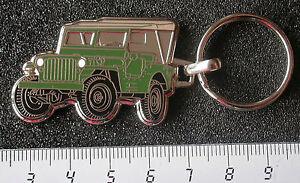 Maße Fahrzeug 44x29mm Schlüsselanhänger Auto & Motorrad: Teile Willys Jeep Schlüsselanhänger Grün Emailliert