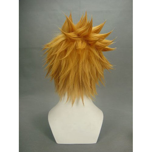 "Kingdom Hearts 12.6/"" Ventus layered Blonde Cosplay Wig Halloween Fancy Wigs Gift"
