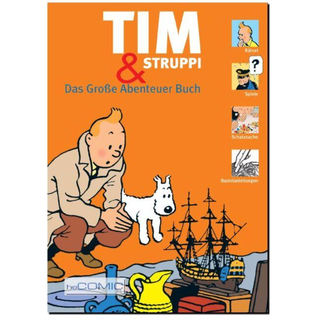 Tim und Struppi Das Große Abenteuer Buch TINTIN Hergé Georges Remi Kuifje ATOMAX