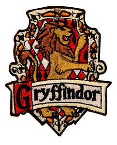 Harry Potter Gryffindor Embroidered Chest Logo Uk Patch Ebay