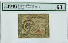 CC#18  1775 CONTINENTAL CURRENCY PMG MS63