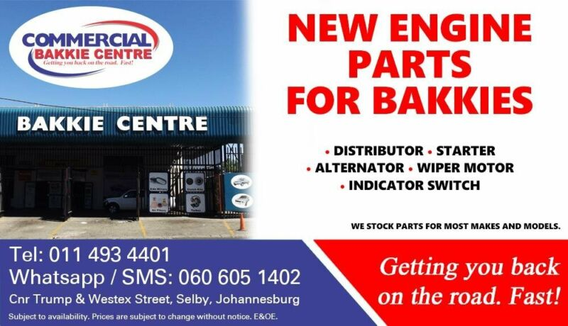 Engine Parts and Spares For Most Bakkie Makes and Models For Sale