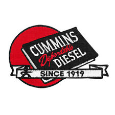 Cummins patch iron on dodge decal plaque diesel badge truck since 1919 red ball