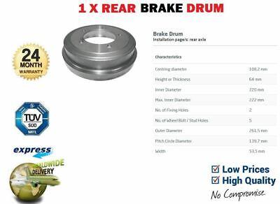CABRIO 4X4 1998-2005 1X REAR BRAKE DRUM 43511-65D10 FOR SUZUKI GRAND VITARA