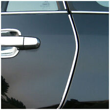 Silver Car Interior Decor Door Chrome Moulding Trim Strip U Style 4M