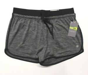 Women/'s Tek Gear Exposed Elastic Black Shorts NEW $26