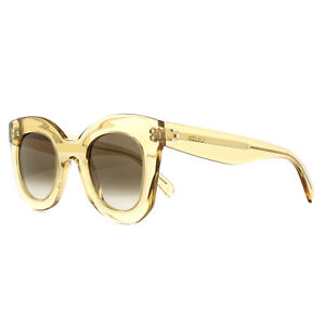 531af85c580 Celine Sunglasses 41393 S Baby Marta HAM X9 Clear Champagne Brown ...