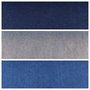 8oz-Washed-Denim-Light-Medium-Dark-Blue-Fabric-100-Cotton-58-034-Wide-M614-Mtex