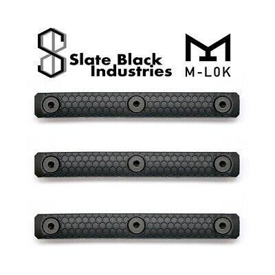 3 x A.J CUSTOM Walnut M-lok Rail Panels for M-Lok Rails black