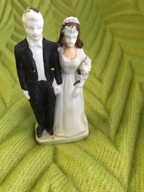 Novelty Vintage Wooden Bride and Groom Wood Cake Topper Wedding ...