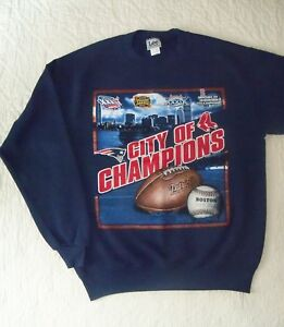 a61453c13e23 City Of Champions Sweatshirt New England Patriots 3x Boston Red Sox ...