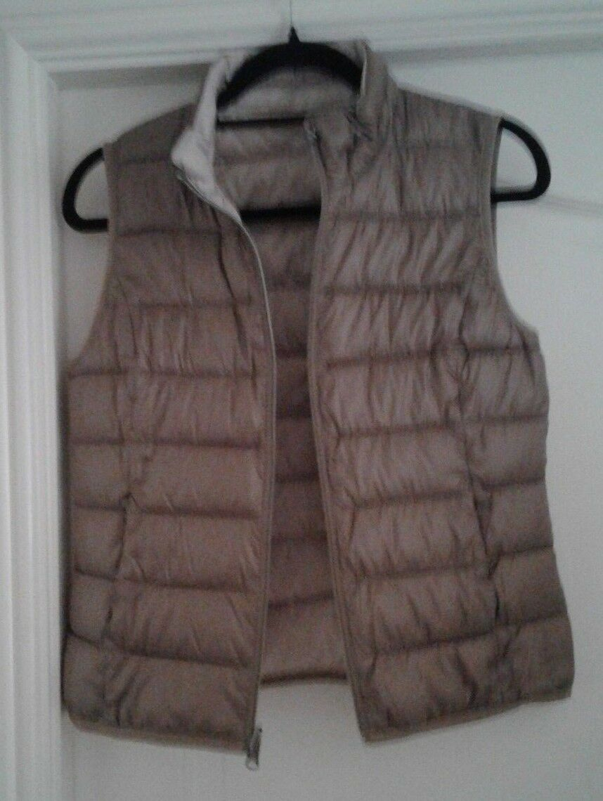 TAIFUN. Quilted Reversible Body Warmer. Size 10. NEVER NEVER NEVER WORN. Coffee Latte. d7a114