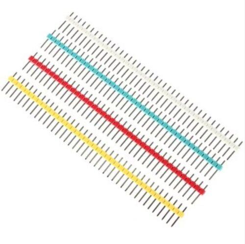 40P 2,54 mm Stiftleiste einreihig Male Pin Header Streifen Steckerleiste Pins 5