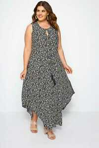 Yours Clothing Women/'s Plus Size Red Ditsy Floral Maxi Dress