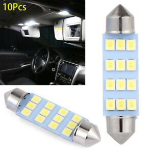 10 X 41mm 12 Smd Led Car Interior Festoon Dome Bulb Lamp Light 12v 2.5*1*4.1cm Automobiles & Motorcycles