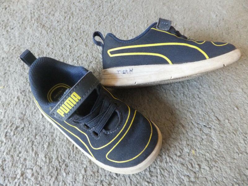 Puma Kinder Sneaker Gr. 23 Blau-gelb / Kinder - Turnschuhe