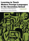 Learning to Teach Modern Languages in the Secondary School: A Companion to School Experience by Kit Field, Ann Barnes, Norbert Pachler (Paperback, 2008)