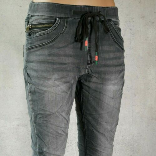 ♥ JEWELLY JOGGING Baggy Boyfriend Jeans Jogpants Wohlfühlhose Hose Grau *43
