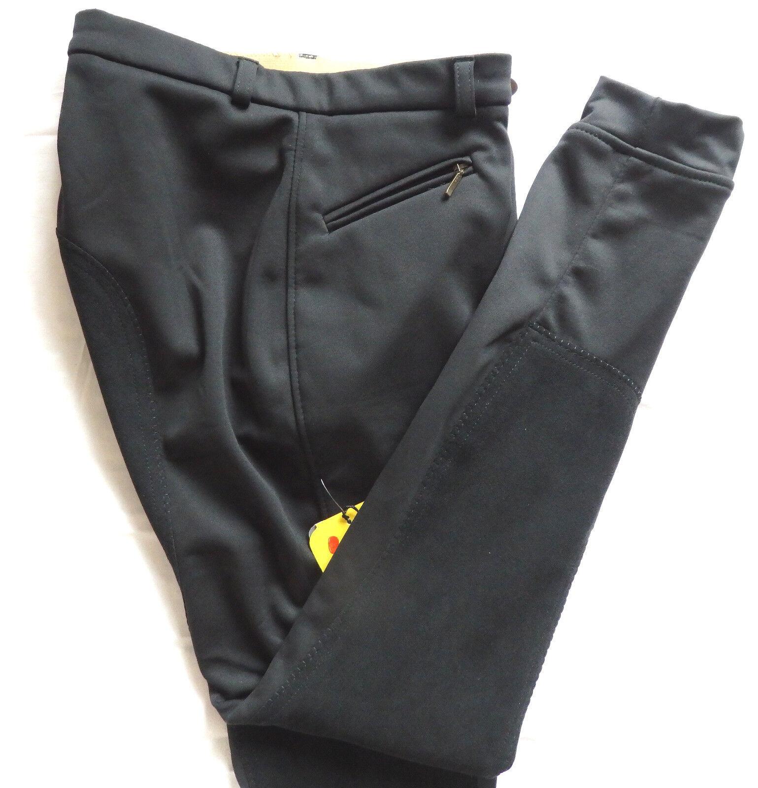 HKM bambini MONTALA Pantaloni Softshell inverno 34 guarnizione in pieno, nero, tg. 176, 220