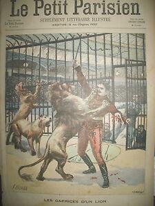 CIRQUE-LIONS-DOMPTEUR-MARCK-AU-NOUVEL-HIPPODROME-JOURNAL-LE-PETIT-PARISIEN-1900
