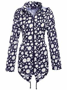 Ladies-Light-Waterproof-Hooded-Zip-Daisy-Rain-Coat-Jacket-Cagoule-Sizes-XS-XXL