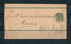 Empire-Allemand-Streifband-S-7-Strehla-apres-Hamburg-1899