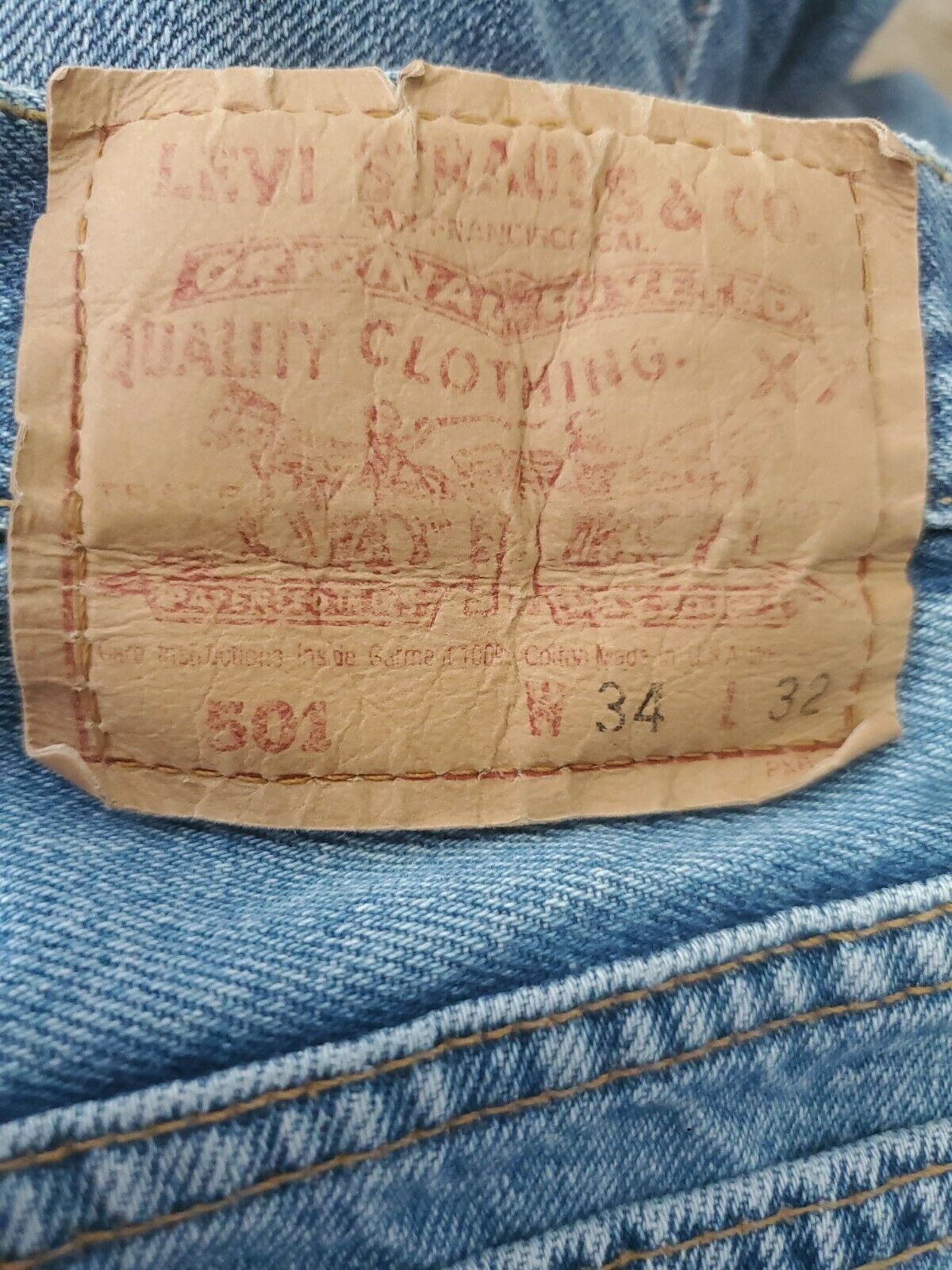 Vintage 501 Levis 34x32 Made In USA - image 8
