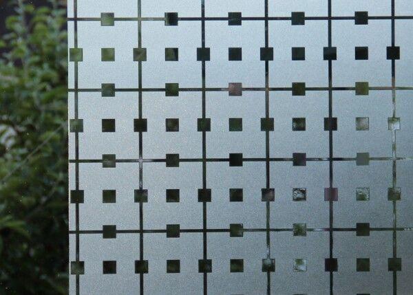(  1qm) Statische Fensterfolie - JOY static Dekorfolie - Manhattan Karo - v | Outlet Store Online