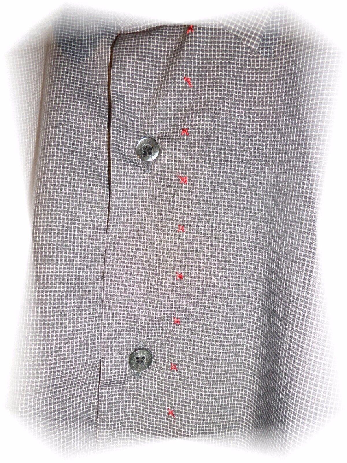 Un- Bella Camicia Grigio Piccoli A Quadri Slim Fit Fit Fit Christian Lacroix T45 aac45a