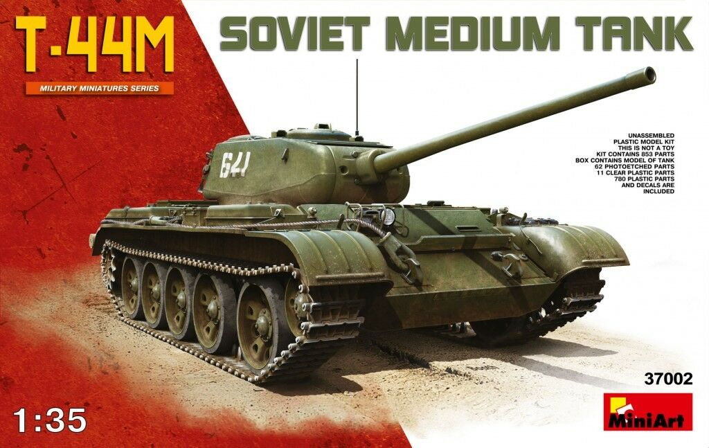 Miniart 1 35 T-44M Soviet Medium Tank Model Kit