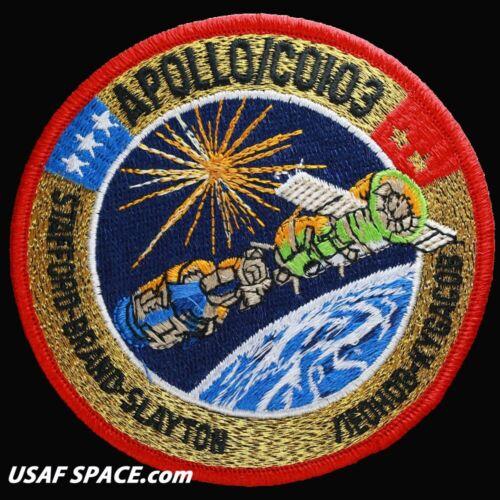 """MINT ORIGINAL AB Emblem 4/"""" SPACE Mission PATCH Official NASA APOLLO SOYUZ"""