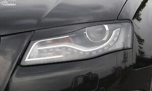 RDX-Scheinwerferblenden-AUDI-A4-B8-8K-2008-2011-Boeser-Blick-Blenden-Spoiler
