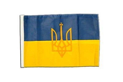 Ukraine mit Wappen Banner ukrainische Fahnen Flaggen 30x45cm