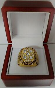 Mark Messier - 1990 Edmonton Oilers Stanley Cup Hockey Ring With Wooden Box