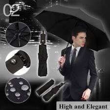 Automatic Black Umbrella Anti-UV Sun/Rain Windproof 3 Folding Compact Umbrella