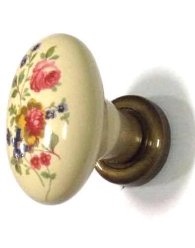 Maniglia pomolo POGGI & MARIANI  Epoque  in porcellana Weiß o avorio