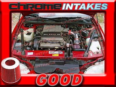 1995//95 CHEVY CHEVROLET MONTE CARLO Z34 3.4L V6 AIR INTAKE KIT Black Red