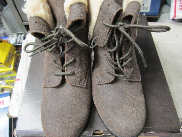 Bearpaw Jeanette 1832W Chestnut Distressed Womens Winter Boots Size 8m WITH TAGS
