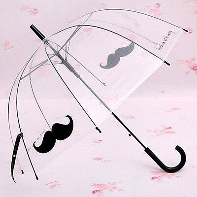 Women Female Princess Umbrella Transparent Beard house  lace Rain umbrella