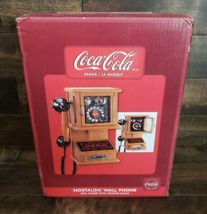 Coca-Cola Nostalgic Wall Hanging Push Phone Retro Telephone Vintage Brand New