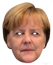 Angela Merkel Celebrity 2D TESSERA PARTITO Face Mask Fancy Dress Up politico tedesco