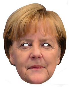 Angela Merkel Promi 2D Karten Party Gesichtsmaske Kostüm Deutscher Politiker