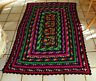 Black Red Green Handcrafted Knit Afghan Throw Blanket