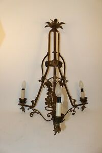 Deckenlampe-Messing-Jugendstil