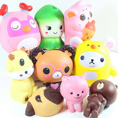Jumbo Squishy Squeeze Colourful Toy Stress Reliever Aid Gift Mobile Straps Charm StraßEnpreis