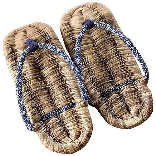 Sandalias Japanese hecho a mano para De hombre hecho de bambú Japan F S waraji zouri