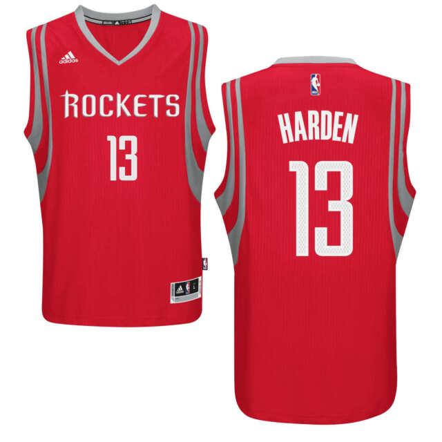 68b077303bc James Harden Houston Rockets Adidas Swingman Basketball Jersey Men's LARGE